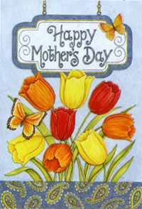Mother's Day Tulips Flag 28x40