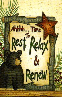 Rest Relax Renew Flag 28x40