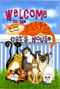 Cat's House Flag 28x40