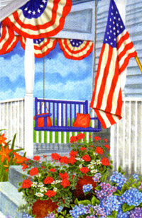 Porch Swing Flag 28x40