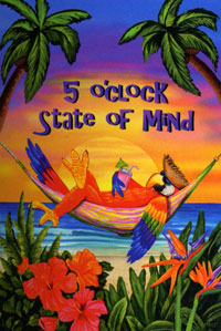 5 O'clock State of Mind Flag 28x40