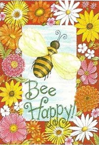 Bee Happy Flag 28 x 40