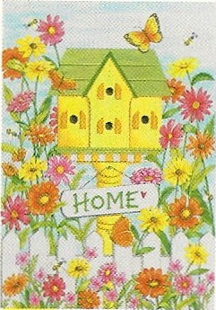 Birdhouse Home Garden Flag 12 x 18