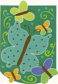 Butterflies Applique Garden Flag 12 x 18