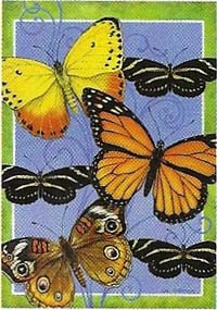 Butterflies Flight Garden Flag 12 x 18