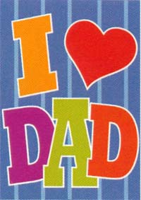I Love Dad Applique Flag 28x40