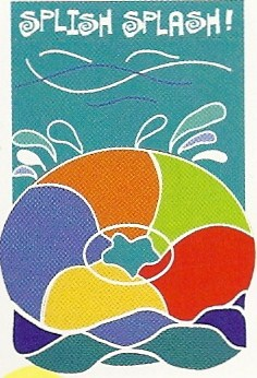 Splish Splash Applique Flag 28 x 40