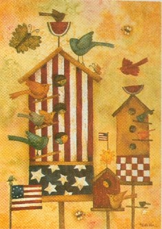 Birdhouse Stars & Stripes Flag 28x40