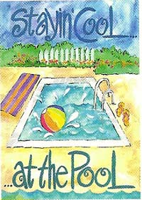 Cool at the Pool Garden flag 12 x 18