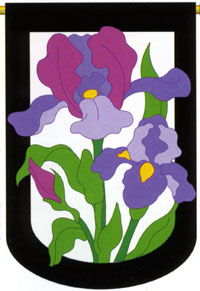 Iris Applique Flag 28x44