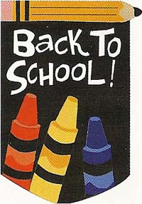 Back to School Applique Garen Flag 12x18