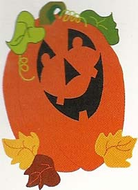 Laughing Pumpkin Applique Flag 28 x 40