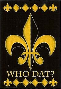Who Dat? Flag 28 x 40