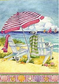 Coastal Escape Garden flag 12 x 18
