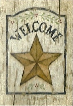 Weathered Star Welcome Flag 28 x 40
