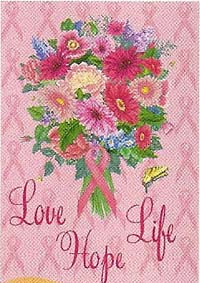 Love, Life, Hope Garden Flag 12 x 18