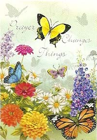 Prayer Changes Things Garden Flag 12 x 18
