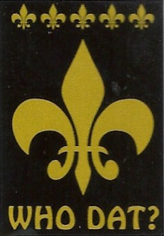 Who Dat? Appique Flag 28 x 40