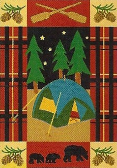 Camping Applique Garden Flag 12 x 18
