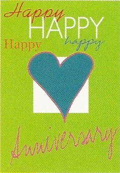 Happy Anniversary Applique Flag 28 x 40