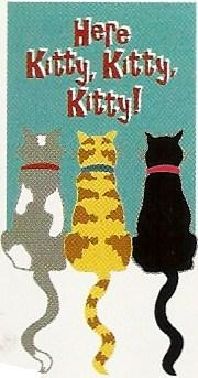 Here Kittty Applique Garden Flag 12 x 18