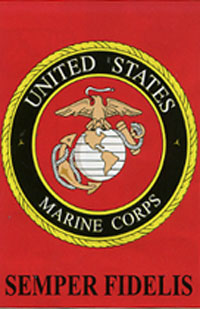 Marine Corps Applique Flag 28x44
