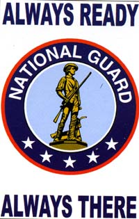 National Guard Applique Garden Flag 13.5x18