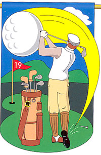 Golf Appliqe Flag 28x44