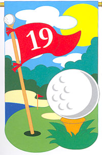 Golf Applique Flag 28x44