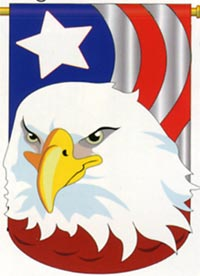 Patriotic Eagle Applique Flag 28x44