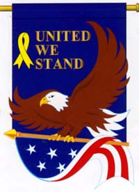 United We Stand 28x44 Flag (100% all weather nylon)