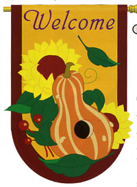 Harvest Applique Flag 28x44