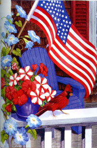 Patriotic Perch Silk Reflections Flag 29x43