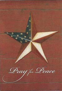 Pray for Peace Silk Reflections Flag 29 x 43