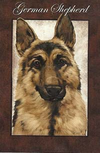 German Shepherd Silk Reflections Flag 29 x 43