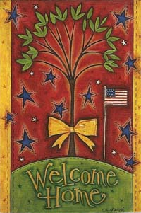 Patriotic Welcome Silk Reflections Flag 29 x 43