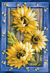 Country Sunflowers Flag 29x43