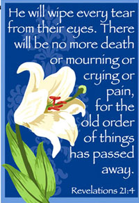 He Will Wipe Every Tear Cemetary Garden Flag 12x18