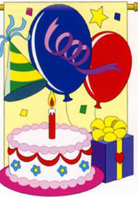 Celebrate Birthday Nylon Party Flag 28x40