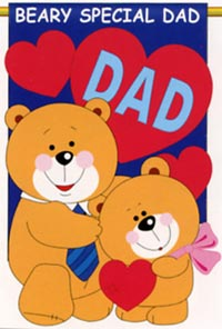 Love Dad Applique Flag 28x44 (Letters are appliqued on both sides, metallic fabric & glitter stitching)