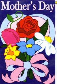 Mother's Day Applique Garden Flag 13.5x18