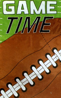 Game Time Applique Flag 28x44