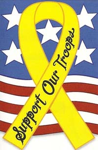 Support Our Troops Applique Flag 28 x 44