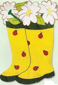 Garden Boots Applique Flag 28 x 44