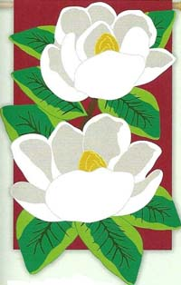 Magnolia Majesty Deluxe Applique Flag 28 x 44