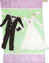 Mr. & Mrs. Applique Flag 29 x 43