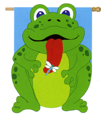 Froggy Applique Flag 30x40