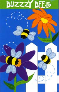 Buzzy Bees Applique Flag 28'x44