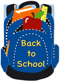 Back to School Applique Garden Flag 12.5x18