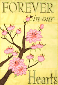 Forever in our Hearts Garden Flag 12x18